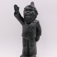 Poisoned garden gnome dwarf by Ottmar Hörl anthracite