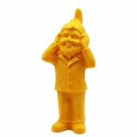 Secret agent garden gnome dwarfs by Ottmar Hörl yellow