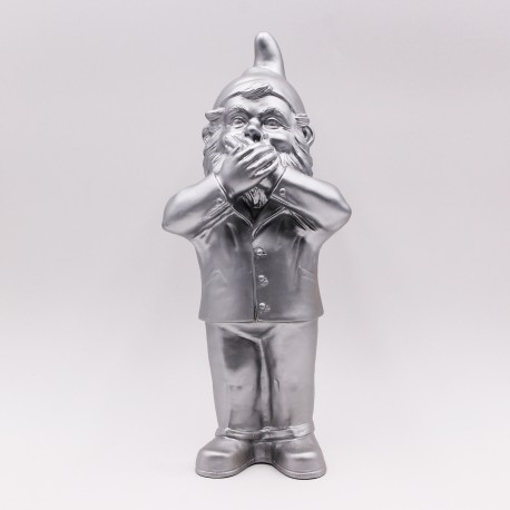 Secret agent garden gnome dwarfs by Ottmar Hörl gold