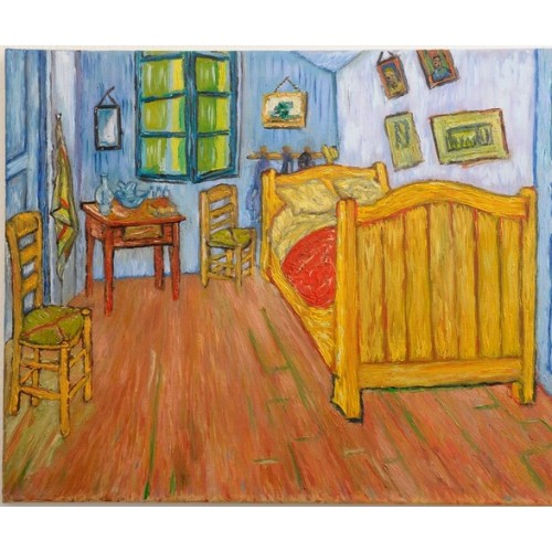 puzzle for children with printed artwok by artist Van Gogh