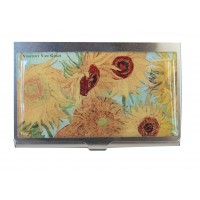 Cardholder Van Gogh sunflowers at work gift giving