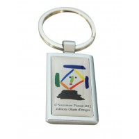 Keychain with printed artwork from Picasso