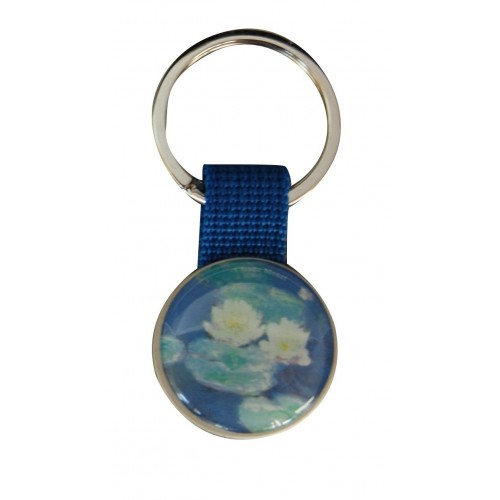Keychain with printed artwork Monet Waterlily
