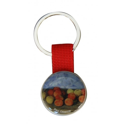 Keychain with printed artwork Paul Cezanne