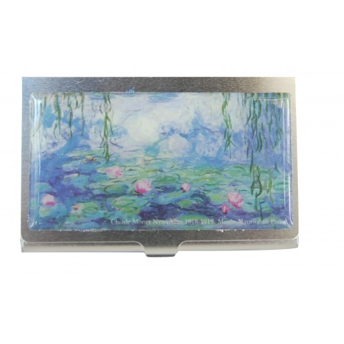 Cardholder Monet Waterlily at work gift giving