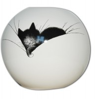 Deco vase of cat by the french illustrator Dubout