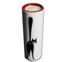Deco carry candle with black cat by the french illustrator dubout
