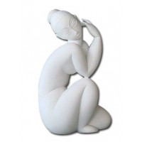 White sculpture collector by Modigliani