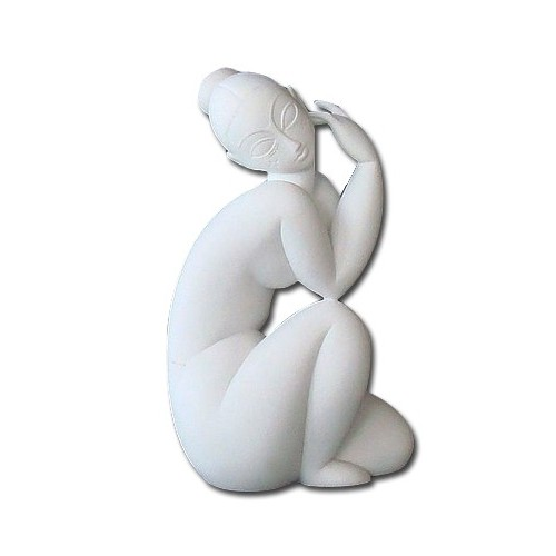 white marble sculpture collector by modigliani