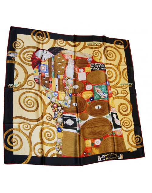 beau foulard original offrir en soie illustration klimt fulfilment. Black Bedroom Furniture Sets. Home Design Ideas