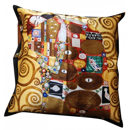 silk cushion fulfilment of Klimt
