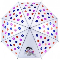 Umbrella printed with artwok The Lovers by artist Peynet