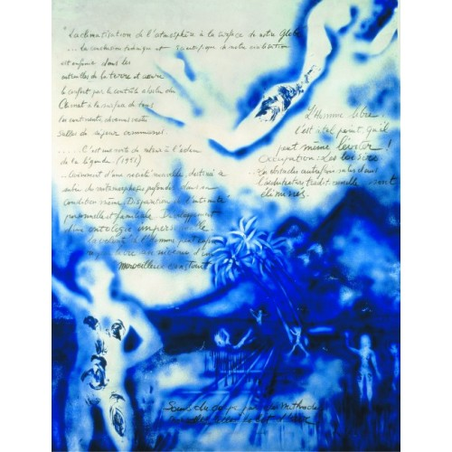 Book illustred by Yves Klein famous french artist