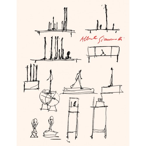 Book illustred by giacometti famous italian artist
