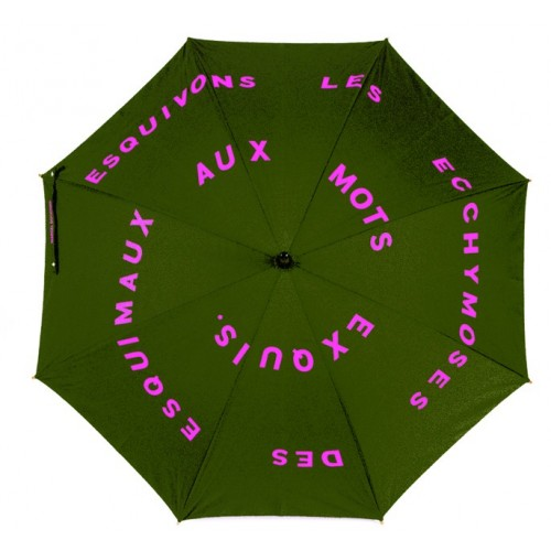 Umbrella printed with artwok by Marcel Duchamp