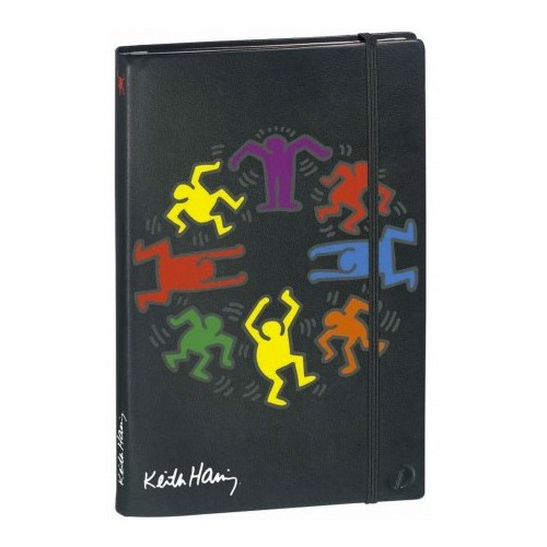 Notebook with printed artwork Dance by Keith Haring