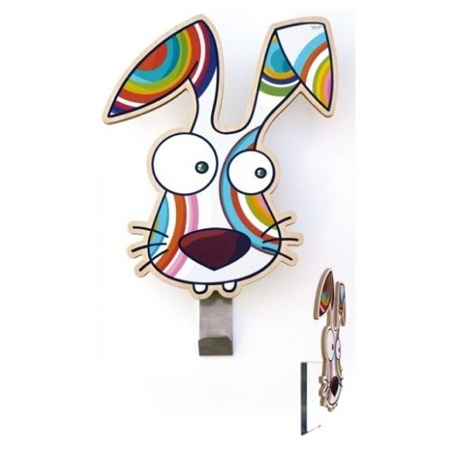 Rabbit coat hook by Ségo