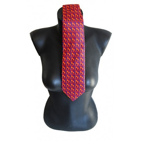 silk tie with printed AIDS artworks of AURELE