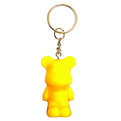 Funky Bear Yellow fluorescent key ring a concept created by O.A