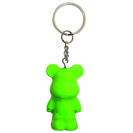 Funky Bear Green fluorescent key ring a concept created by O.A