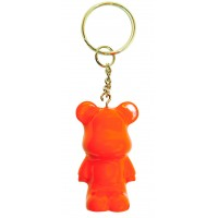 Funky Bear Orange fluorescent key ring