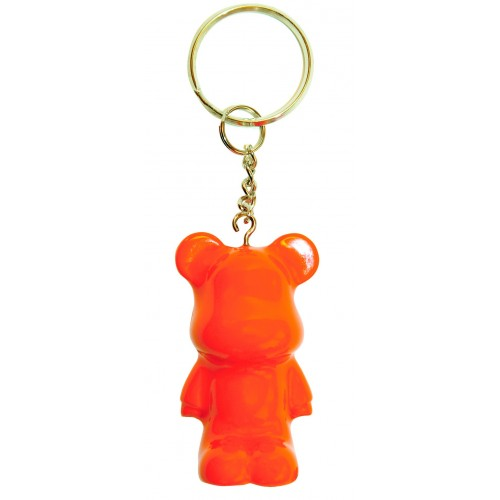 Funky Bear Porte-Clés orange fluo