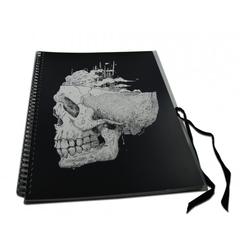 Exercise book to drawings by the artist Benoit Charbonnel
