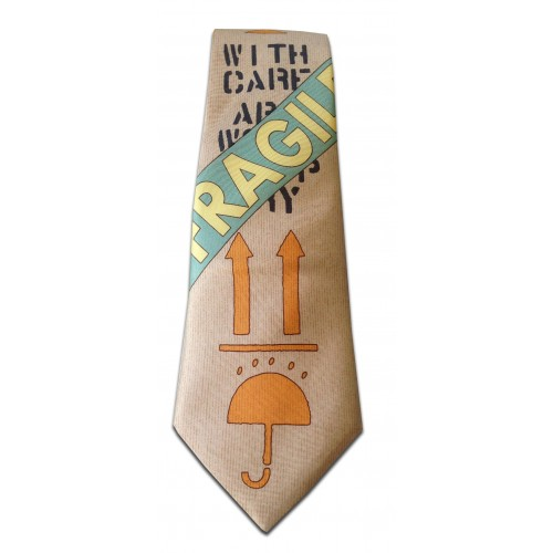 Silk tie with printed artworks of Raynaud