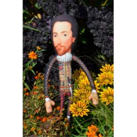 Poupée originale déco Little Big Dolls William Shakespeare