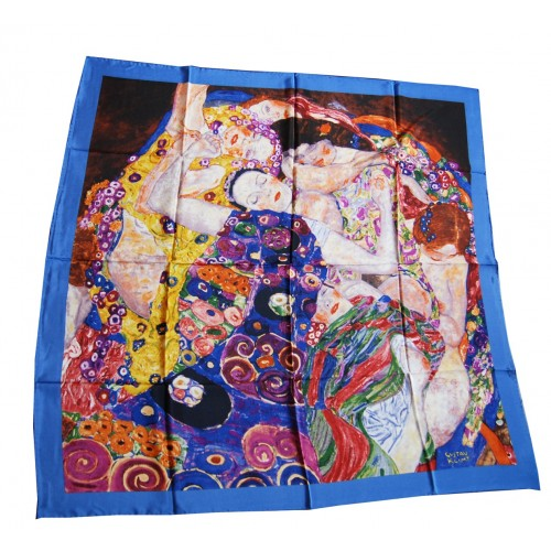 Scarf 100x100cm Klimt - The virgins