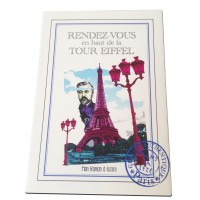 Small notebook-book with detachable blank pages Meeting at the top of the Eiffel Tower