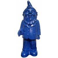 Blue welcome garden gnome dwarf by Ottmar Hörl