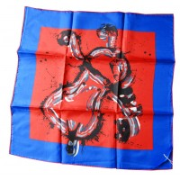 blue and orange scarf by the french artist Arman