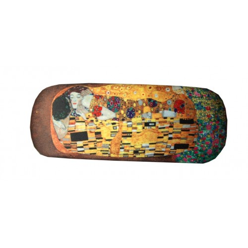 Glasses box with printed painting of famous artist Klimt the Kiss