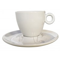Cup and saucer limited edition of the artist Rodin