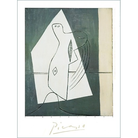 """Painting poster """"Figure"""" by Picasso"""