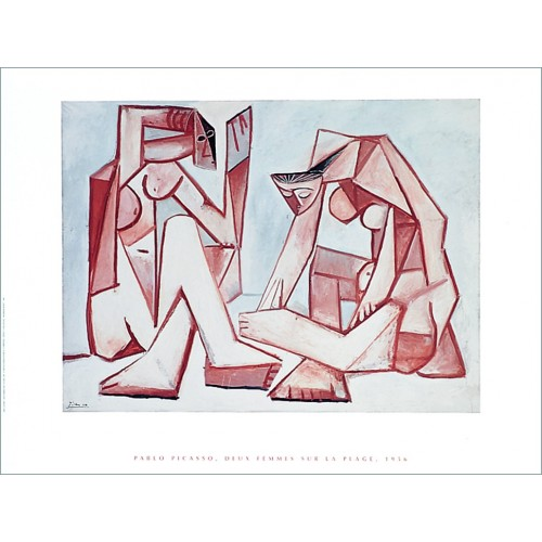 "Painting poster ""Two women on the beach"" by Picasso"