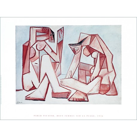 """Painting poster """"Two women on the beach"""" by Picasso"""