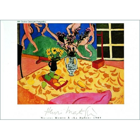 "Painting poster ""Nature morte à la danse"" by Henri Matisse"