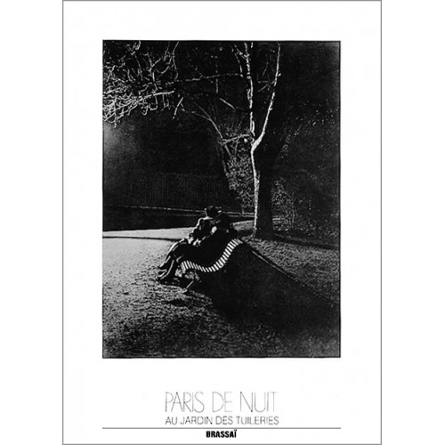 Affiche photo Au jardin des tuileries Brassai