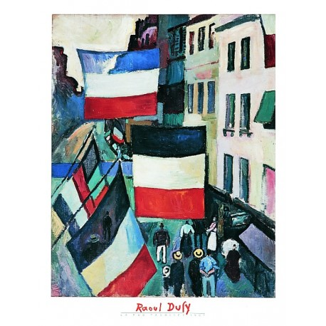 "Painting poster ""La rue pavoisée"" by Dufy"