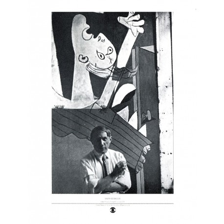 """Painting poster """"Pablo Picasso et Guernica"""" by Seymour"""