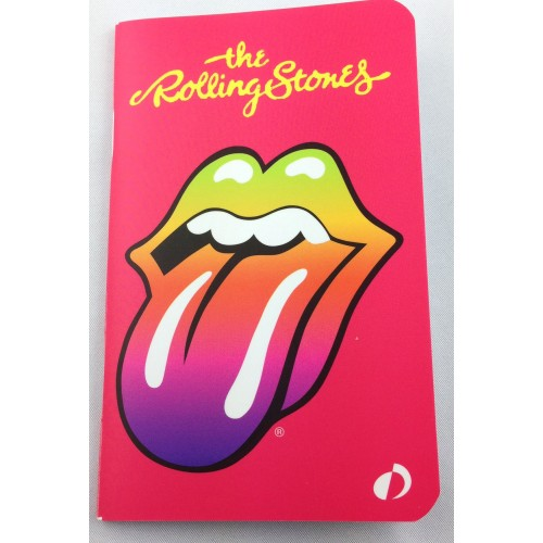 Small notebook Illustrated by the famous mouth legendary rock band The Rolling Stones