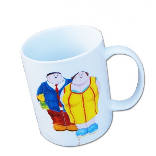 Mug design french touch couple de français par Alain Willette