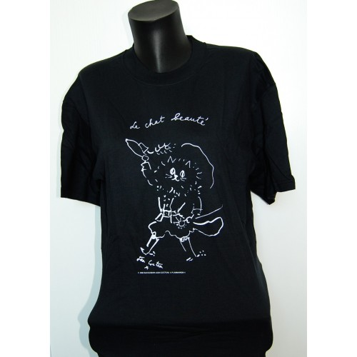 Tee-Shirt noir officiel le Chat Beauté de Jean Cocteau