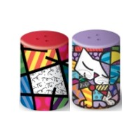 Salt and pepper with Sam cat by Romero Britto