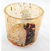 Tealight candle holder Fulfillment by Gustav Klimt