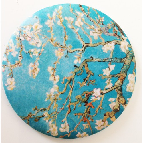 Mirror with printed artwok by artist Van Gogh Almond trees in bloom