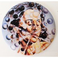 Mirror with printed artwok Galathée aux sphères from spanish artist Dali