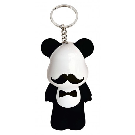 Funky Bear Gentlemen Moustache key ring a concept created by O.A